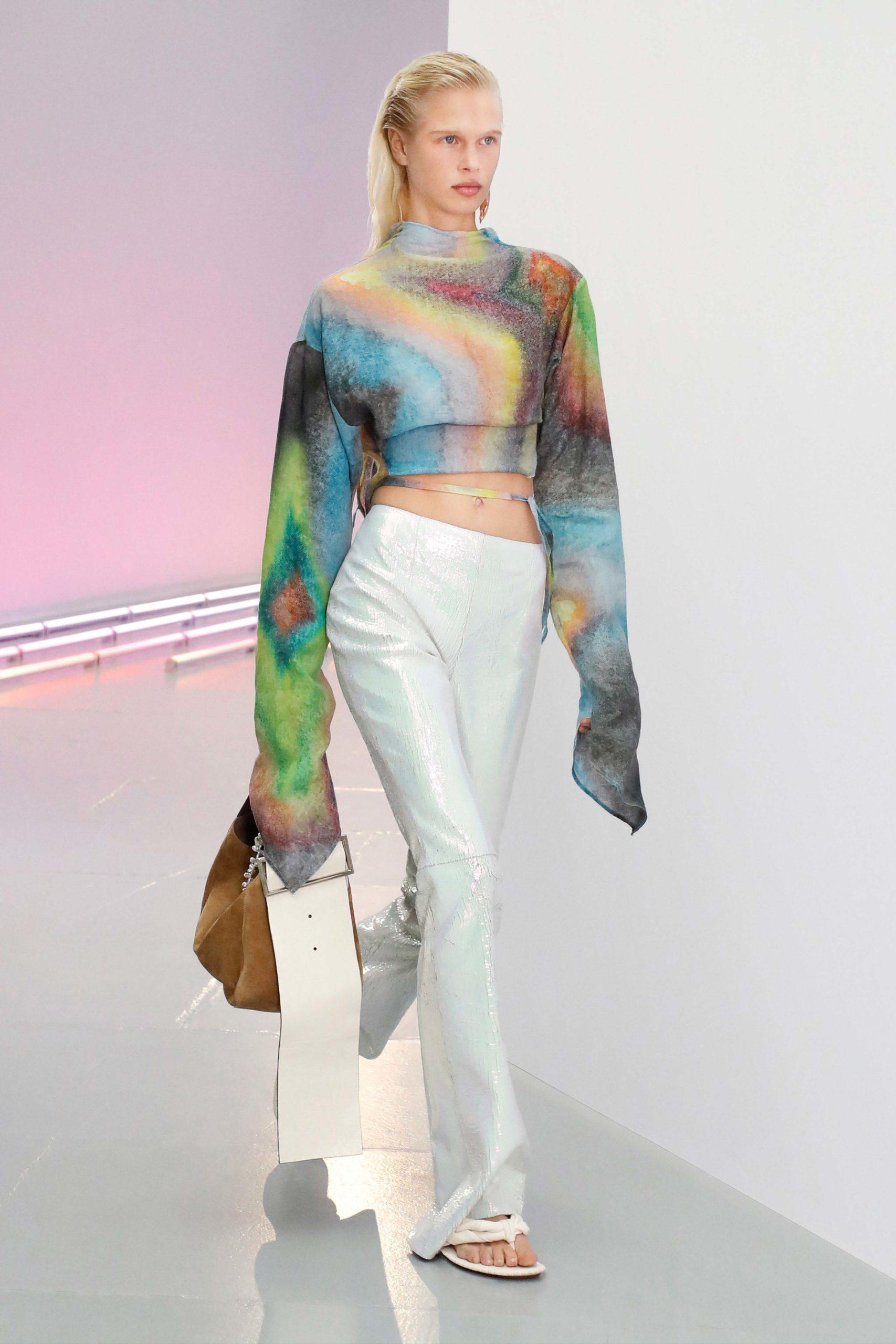 Spring Summer 2021 trends runway coverage Ready To Wear Vogue mermaid pants Acne Studios metallic pants