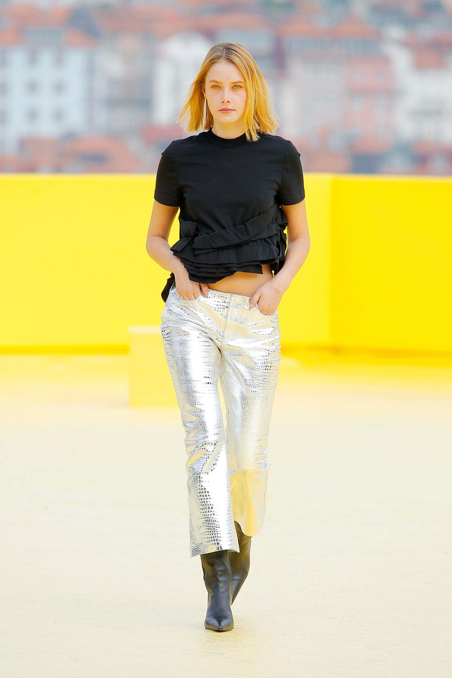 Spring Summer 2021 trends runway coverage Ready To Wear Vogue mermaid pants Marques Almeida metallic pants