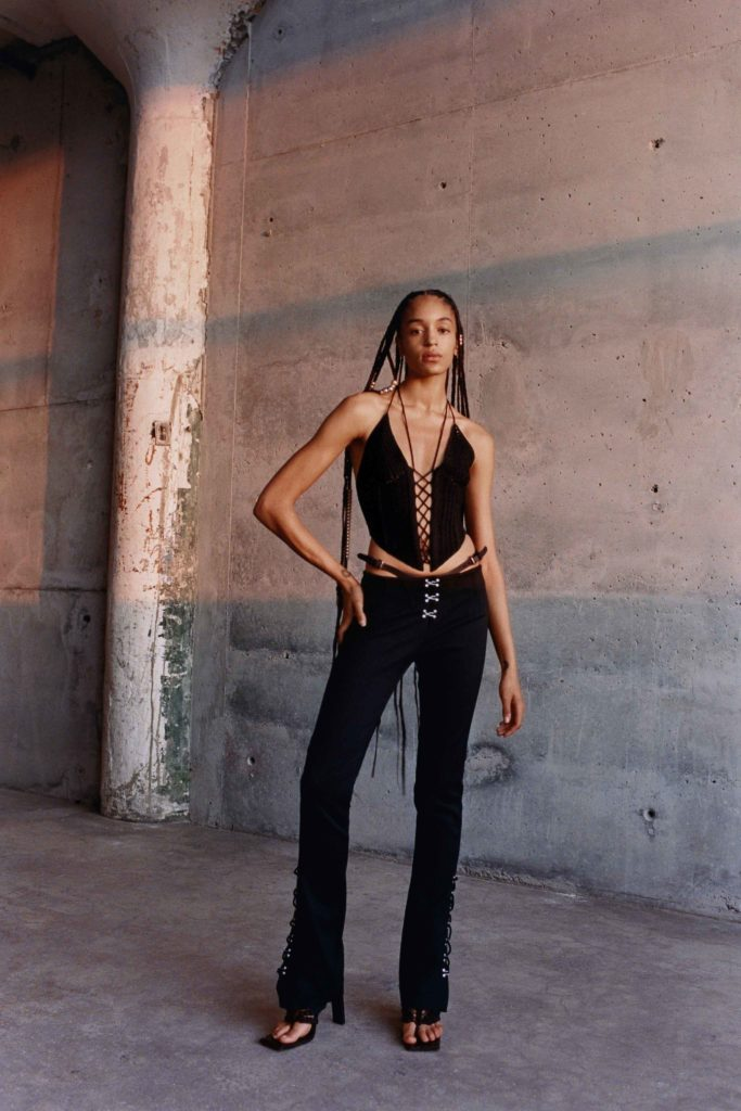 Spring Summer 2021 trends runway coverage Ready To Wear Vogue 2000 trend low rise pants Dion Lee Dark Angel style