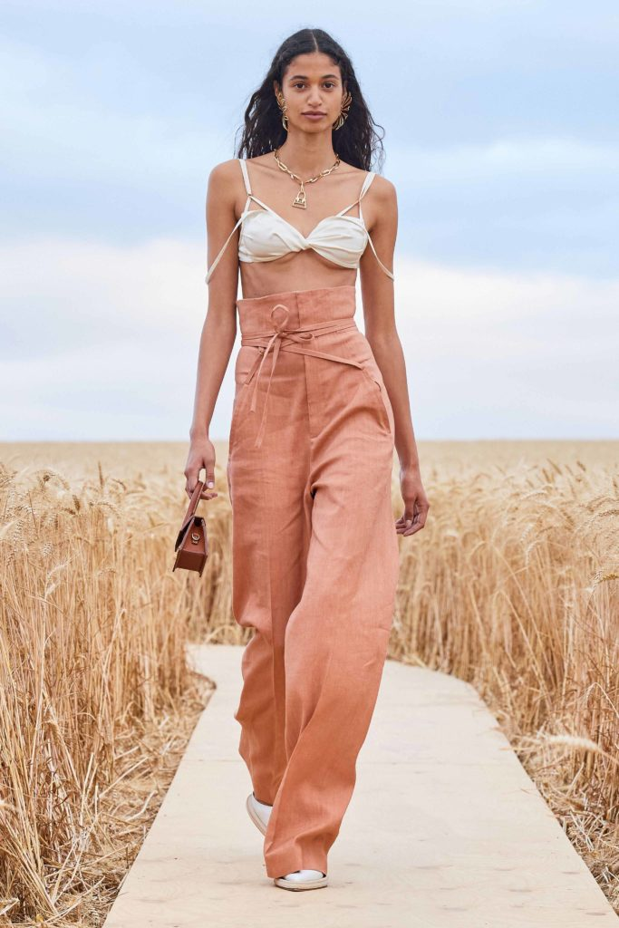 Spring Summer 2021 trends runway coverage Ready To Wear Vogue Lingerie wear Jacquemus bralette