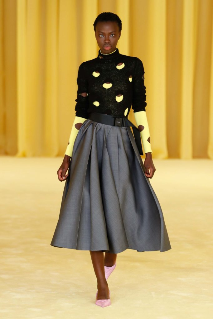 Spring Summer 2021 trends runway coverage Ready To Wear Vogue cut out dress dress at home Prada