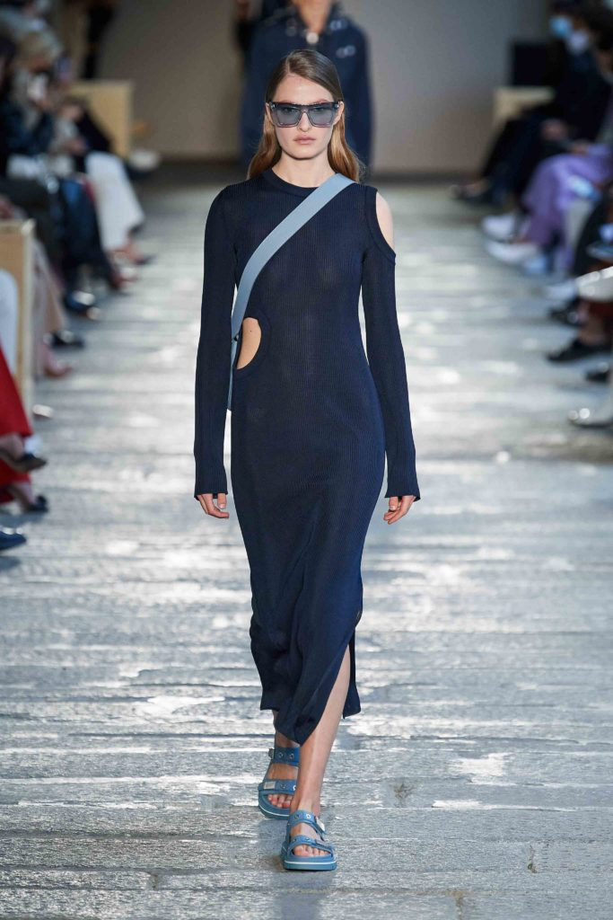 Spring Summer 2021 trends runway coverage Ready To Wear Vogue cut out dress Boss