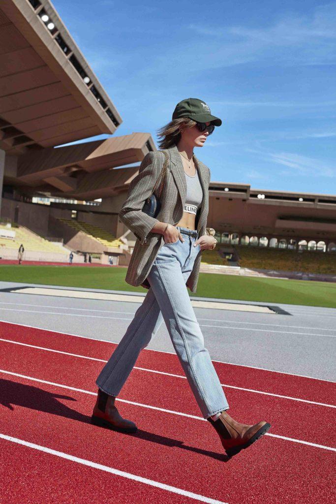 Spring Summer 2021 trends runway coverage Ready To Wear Vogue Lingerie wear Denim and Lingerie Celine sporty bralette