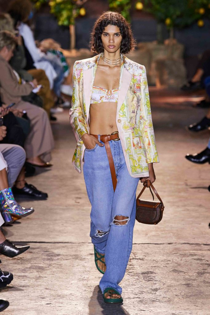 Spring Summer 2021 trends runway coverage Ready To Wear Vogue Lingerie wear Denim and Lingerie Etro the bra