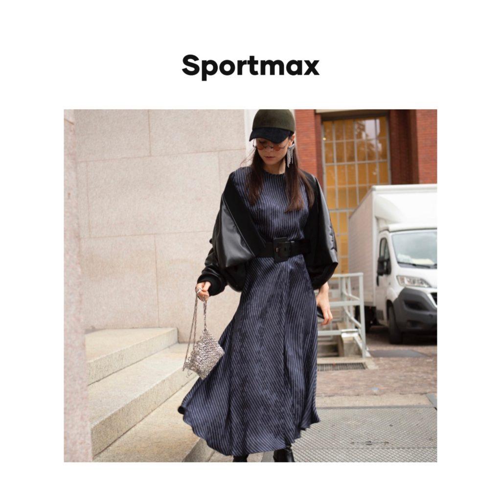 Sportmax digital campaign fashion editorial julia comil