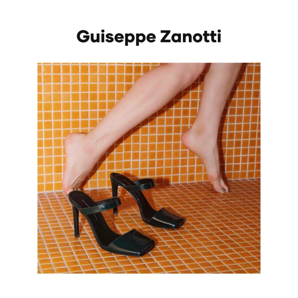 Giuseppe Zanotti digital campaign fashion editorial julia comil