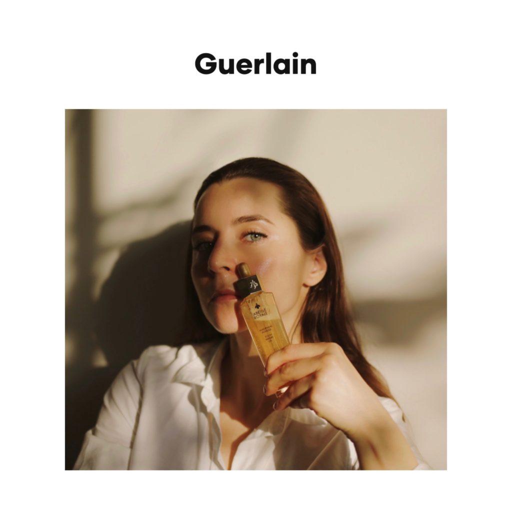 Guerlain digital campaign skincare editorial julia comil