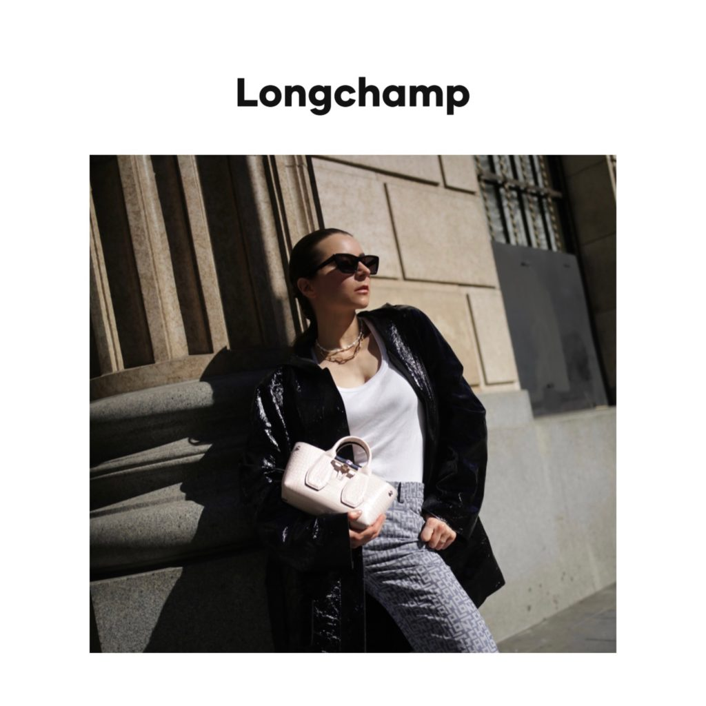 longchamp digital campaign fashion editorial julia comil