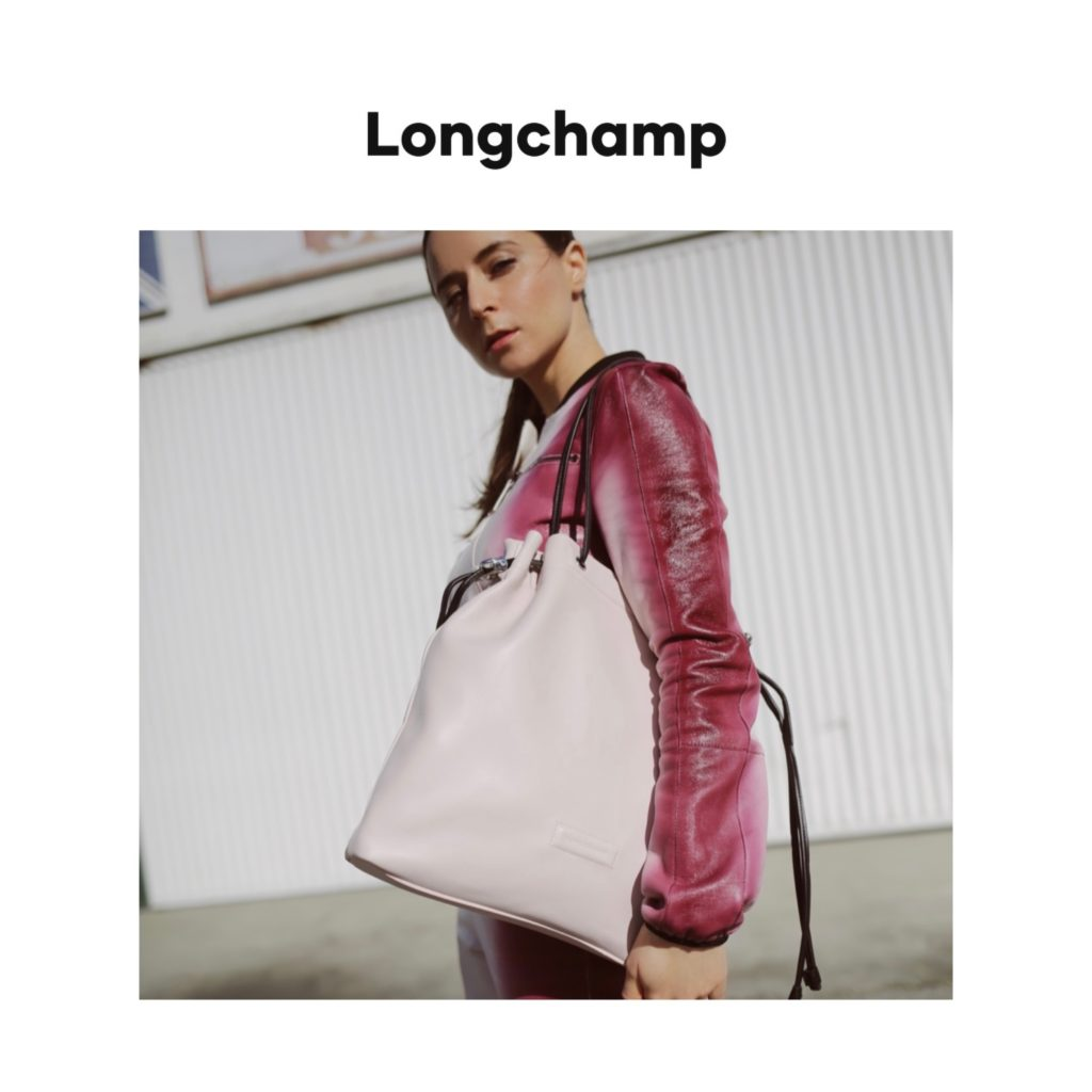 Longchamp digital campaign editorial julia comil