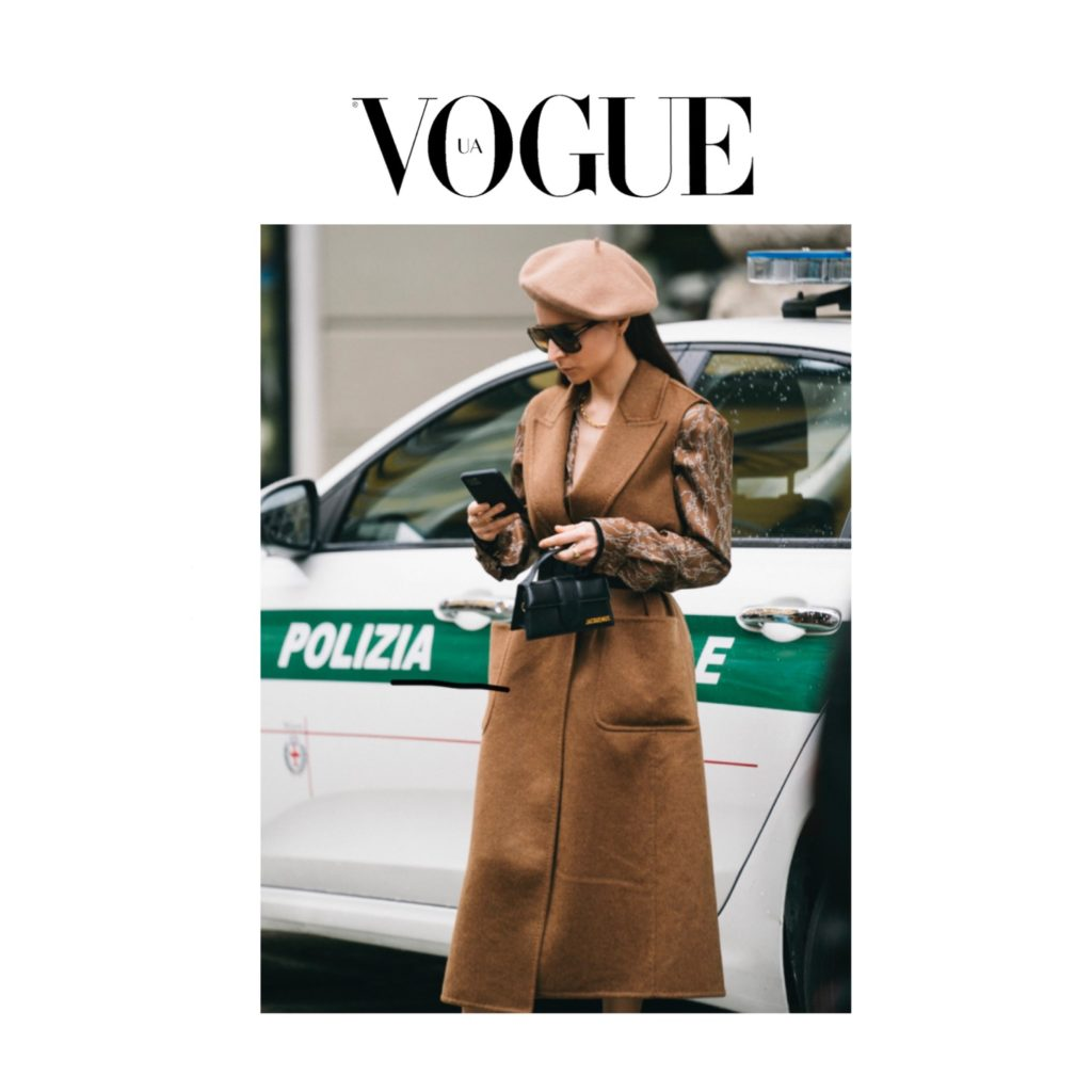 Vogue Ukraine - Best of Milan Fashion Week Street Style Spring 2021 - Imaxtree - Julia Comil during Max Mara show - Julia Comil is wearing Max Mara vest and shirt dress, Jacquemus bag - press
