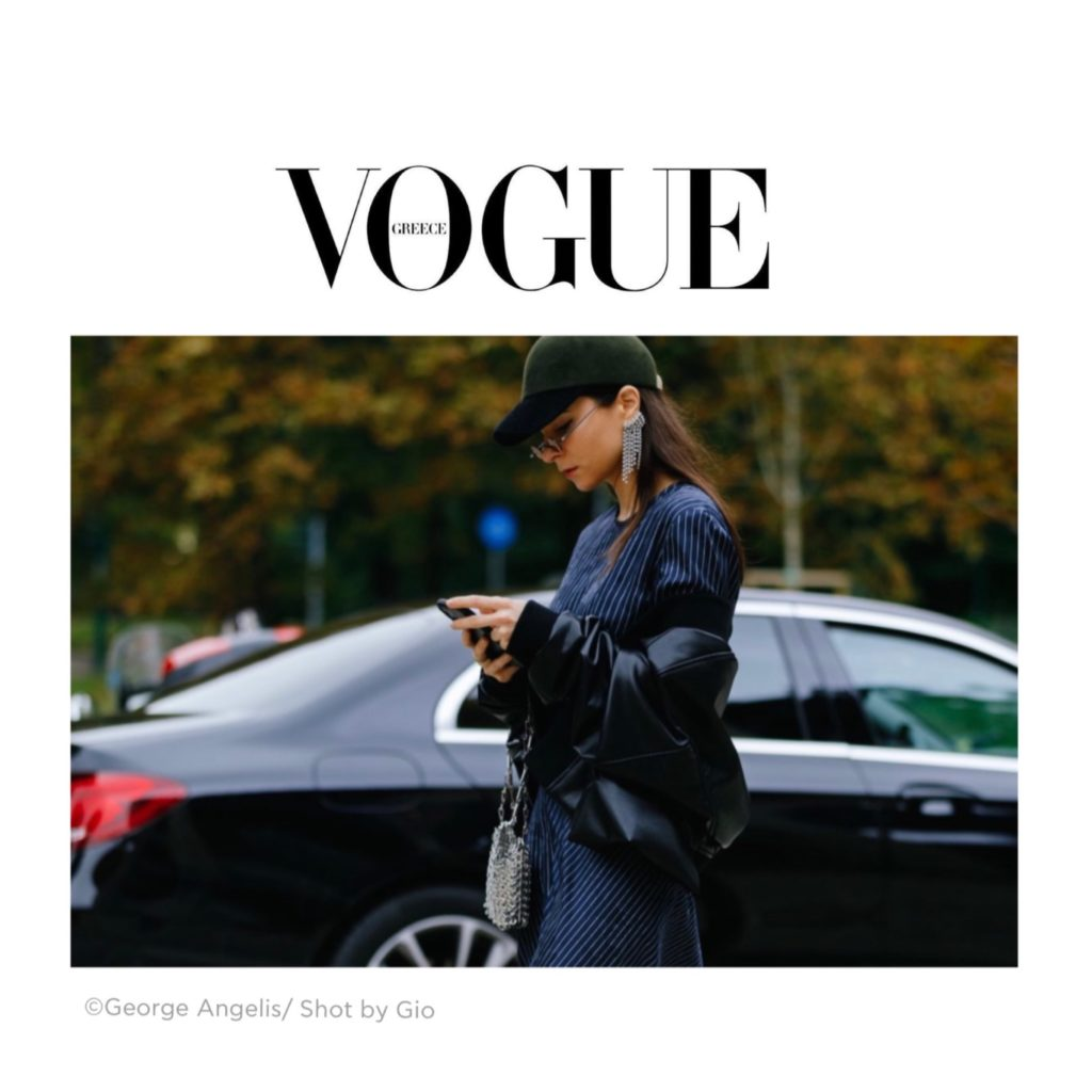 Vogue Greece - Best of Milan Fashion Week Street Style Spring 2021 - Julia Comil during Sportmax show shot by George Angelis - Julia Comil is wearing Sportmax - press