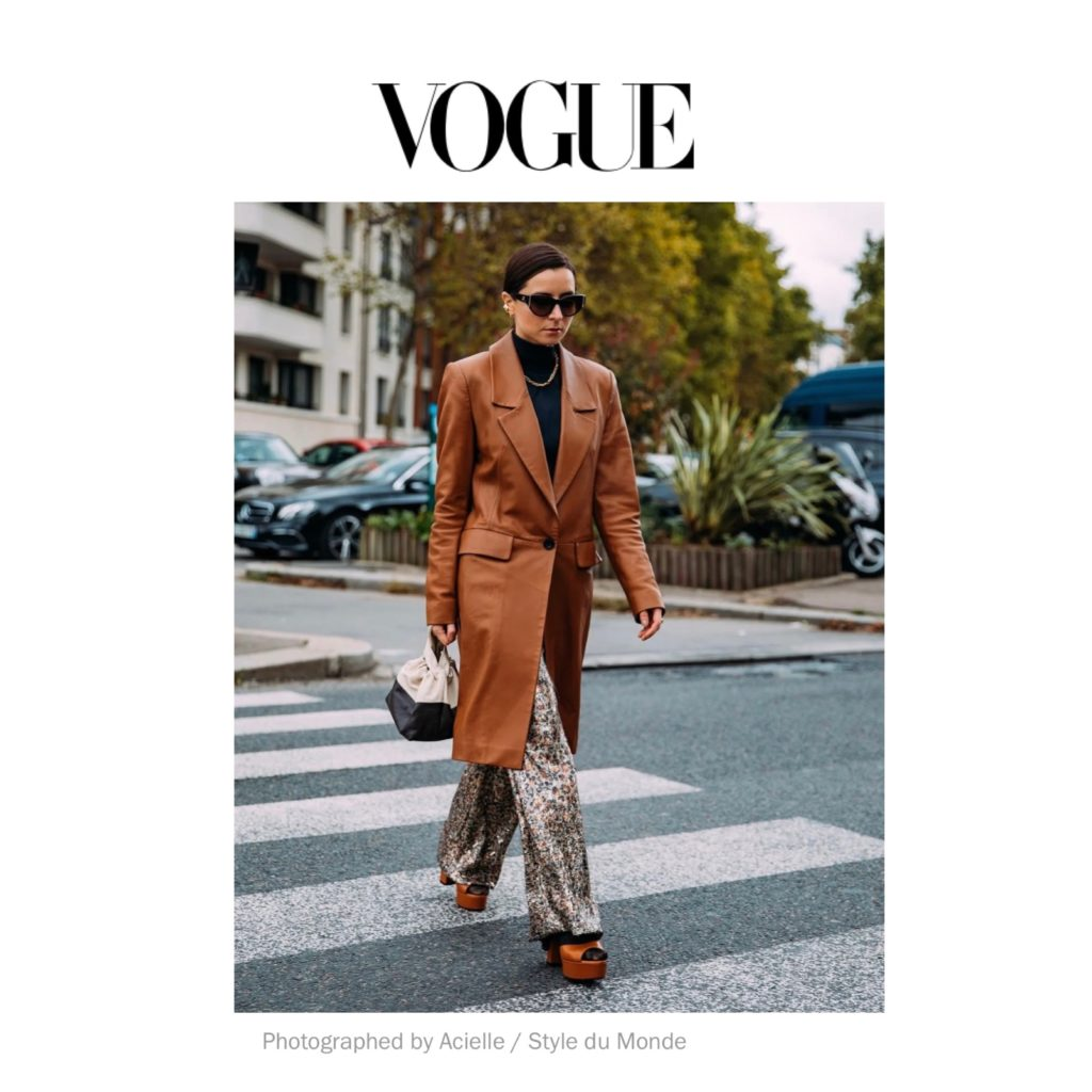 Vogue - Best of Paris Fashion Week Street Style Spring 2021 - Julia Comil shot by Acielle Style Du Monde - Julia Comil is wearing Chanel, Dorothee Schumacher, Barbara Bui sandals, Demellier bag - press