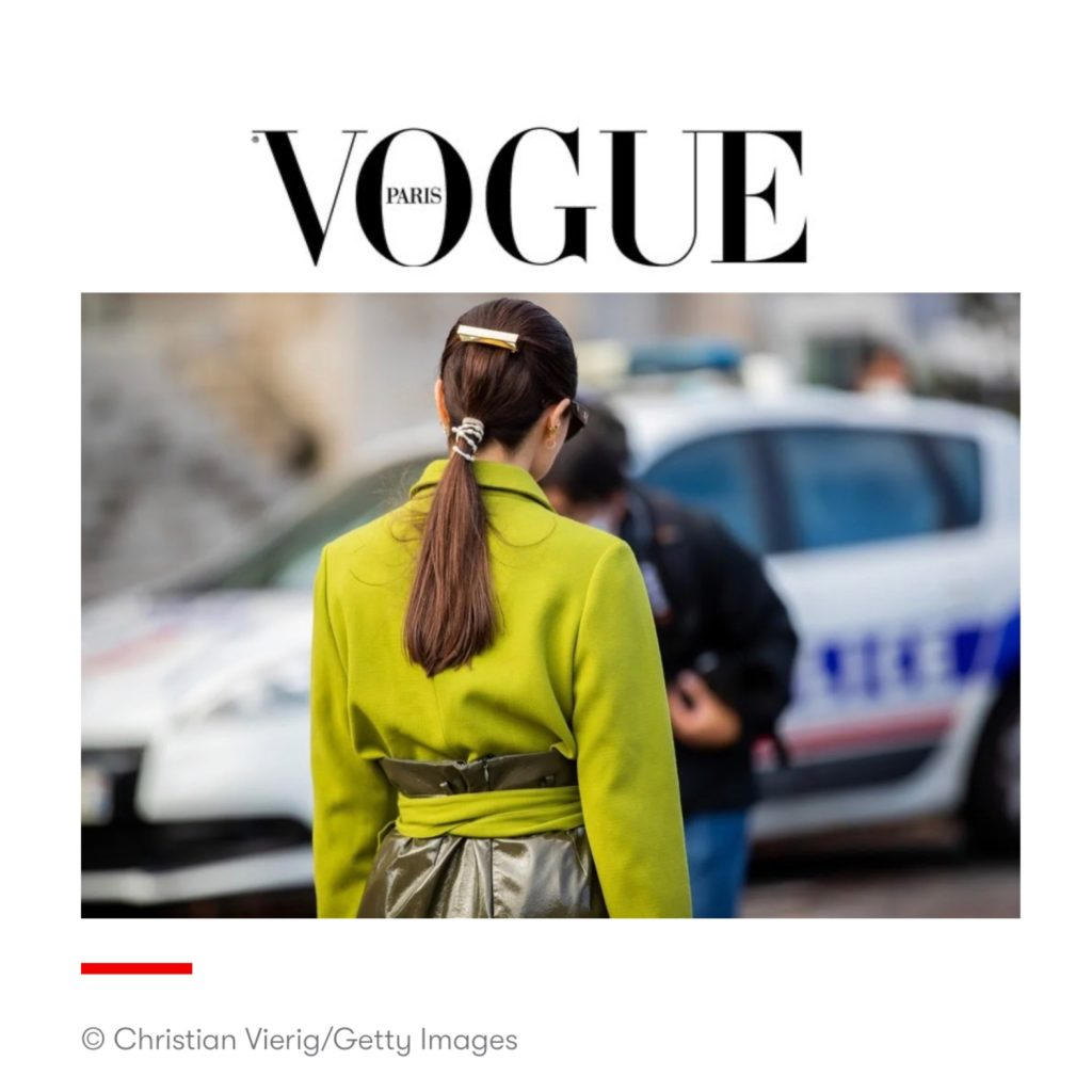 Vogue Paris - Best of Paris Fashion Week Street Style Spring 2021 - Julia Comil shot by Christian Vierig - Julia Comil is wearing Chanel, Jacquemus and Natan couture - press
