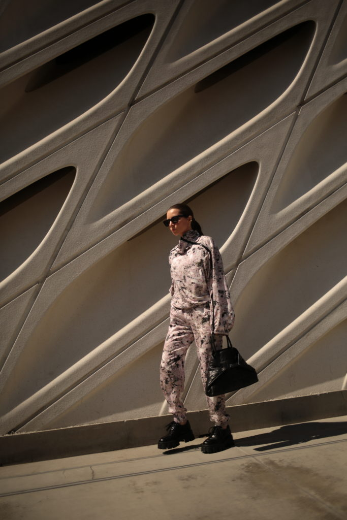 Longchamp spring summer 2021 track suit julia comil in Los Angeles