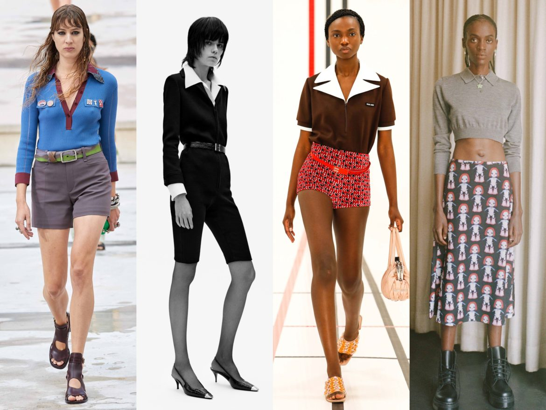 Spring Summer 2021 trends runway coverage Ready To Wear polo shirt for women - Chloe, Saint Laurent, Miu Miu, Sandy Liang