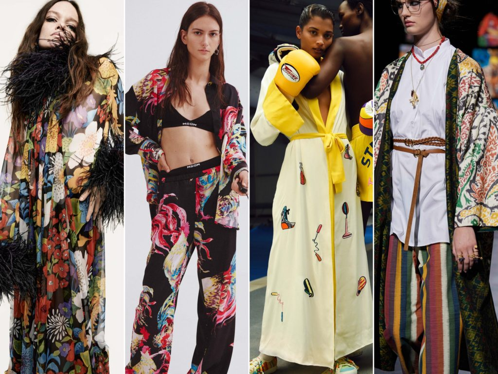 Spring Summer 2021 trends runway coverage Ready To Wear Vogue elevated pajama party pjs pyjamas pajamas, Saint Laurent, MSGM, Mira Mikati, Dior