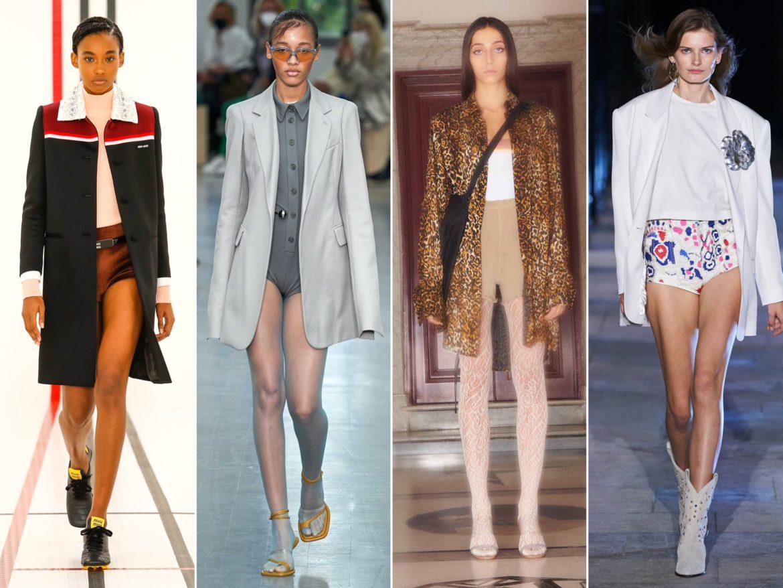 Spring Summer 2021 trends runway coverage Ready To Wear Vogue pants are an option - panties - Miu Miu, Sportmax, Priscavera, Isabel Marant.