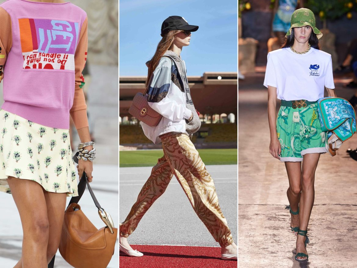 Spring Summer 2021 trends runway coverage Ready To Wear Vogue silky scarf bottom Chloe, Celine, Etro