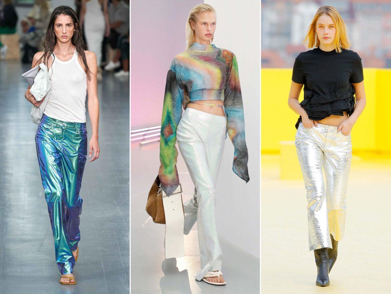 Spring Summer 2021 trends runway coverage Ready To Wear Vogue Mermaid Pants Metallic Pants Sportmax, Acne Studios, Marques Almeida