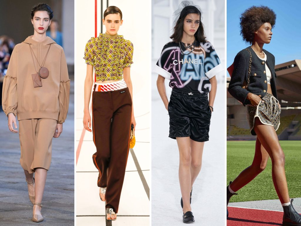 Spring Summer 2021 trends runway coverage Ready To Wear Vogue Sporty Chic Max Mara, Miu Miu, Chanel, Celine