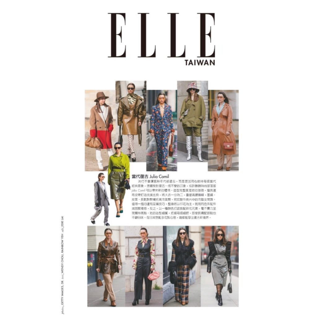 Elle Taiwan - Paris Fashion Week Street Style 2020 - Julia Comil shot by @Kristinsinclair - Julia Comil fashion week styles