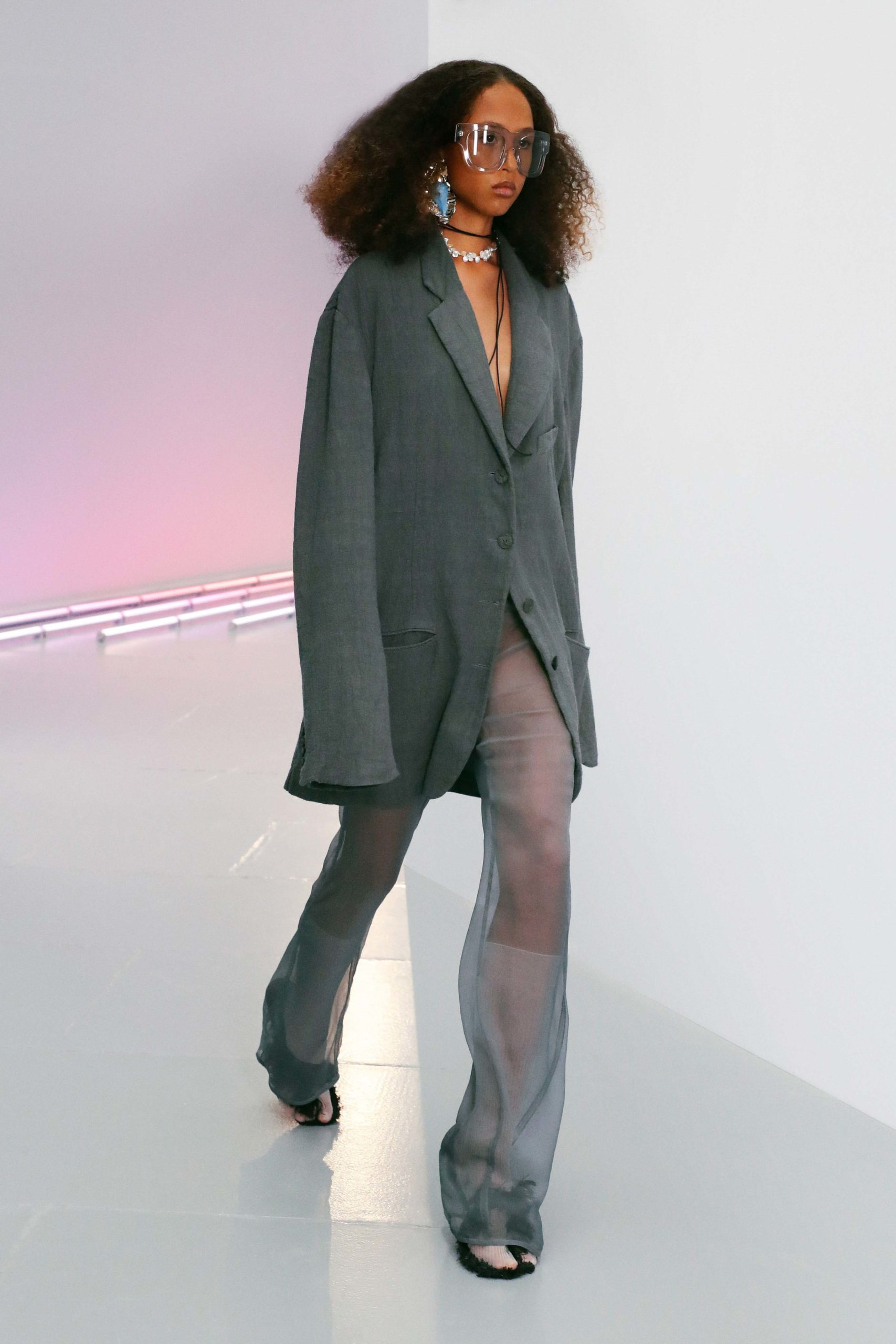 Spring Summer 2021 trends runway coverage Ready To Wear Vogue transparency play with organza Acne Studios