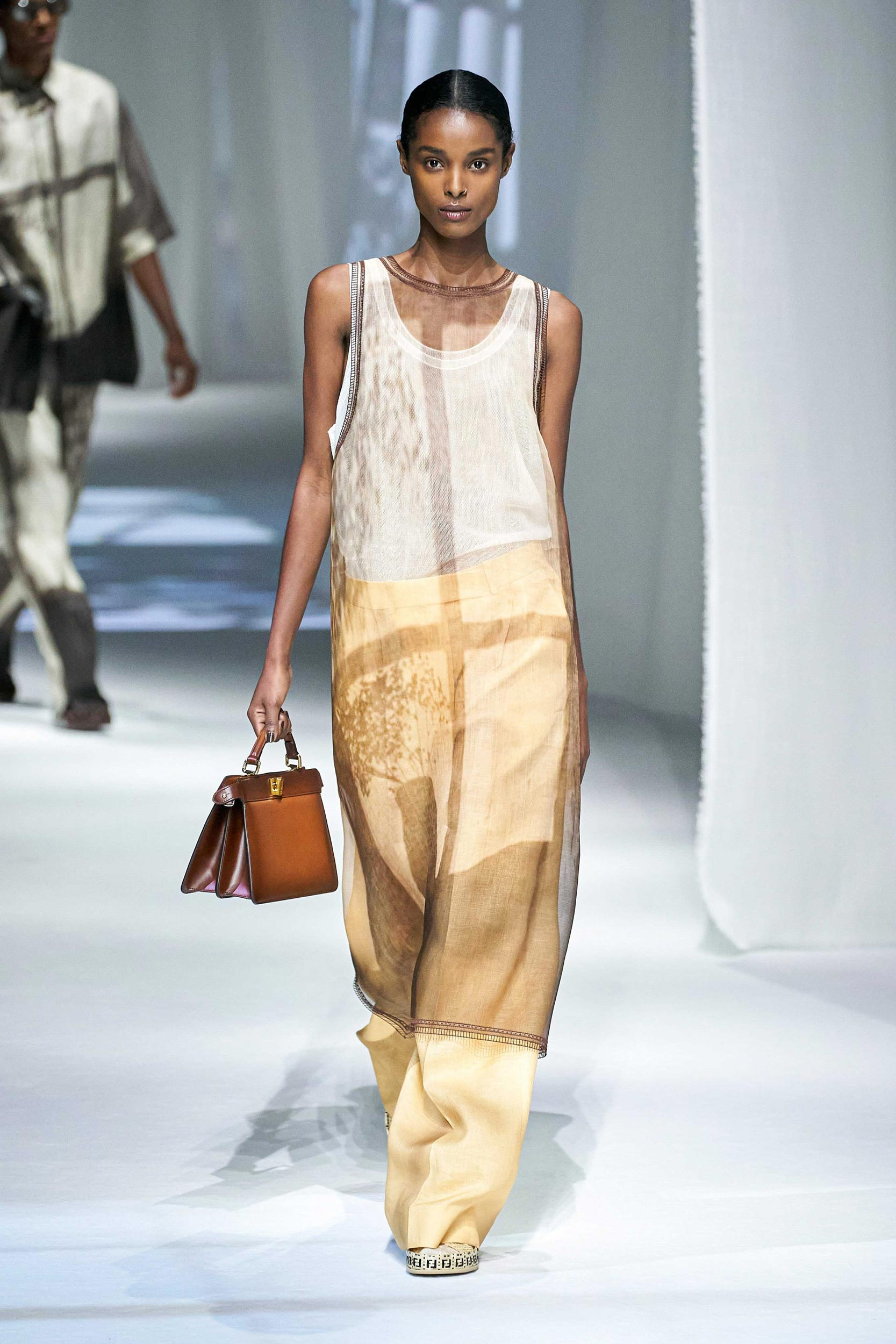 Spring Summer 2021 trends runway coverage Ready To Wear Vogue play with organza Fendi