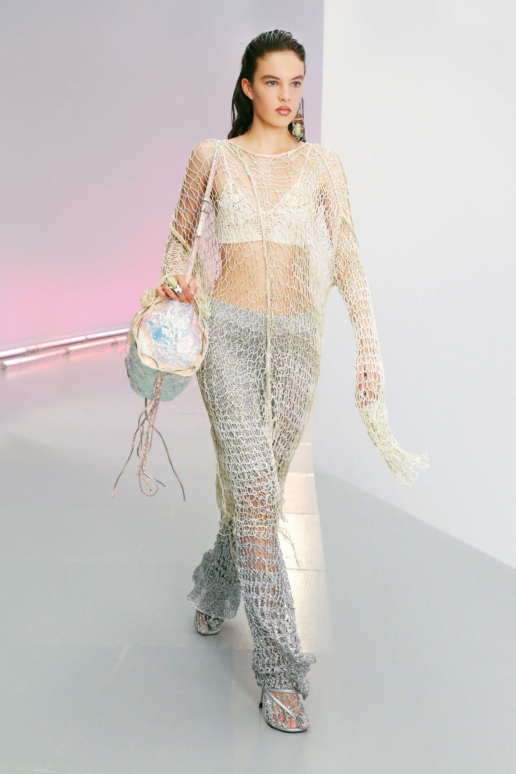 Spring Summer 2021 trends runway coverage Ready To Wear Vogue Fish net Acne Studios