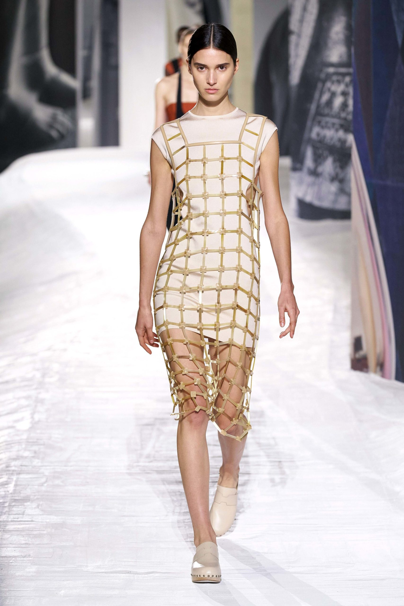 Spring Summer 2021 trends runway coverage Ready To Wear Vogue Fish net Hermes