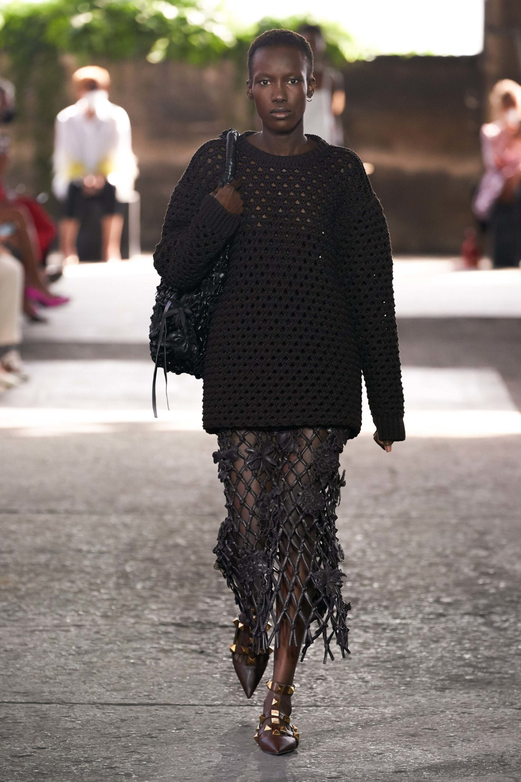 Spring Summer 2021 trends runway coverage Ready To Wear Vogue Fish net Valentino