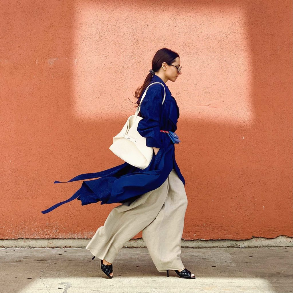 Nehera chanel akris digital fashion week fall winter 2021 street style to attend the digital show julia comil shot by Edward Berthelot
