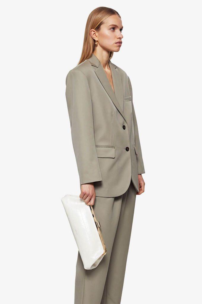 Anine Bing khaki green oversized blazer spring trend 2021blazer