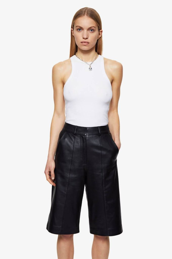 Edgy style: Best 10 anine bing pieces to wear all year round. ANINE BING boxy tee perfect white tee