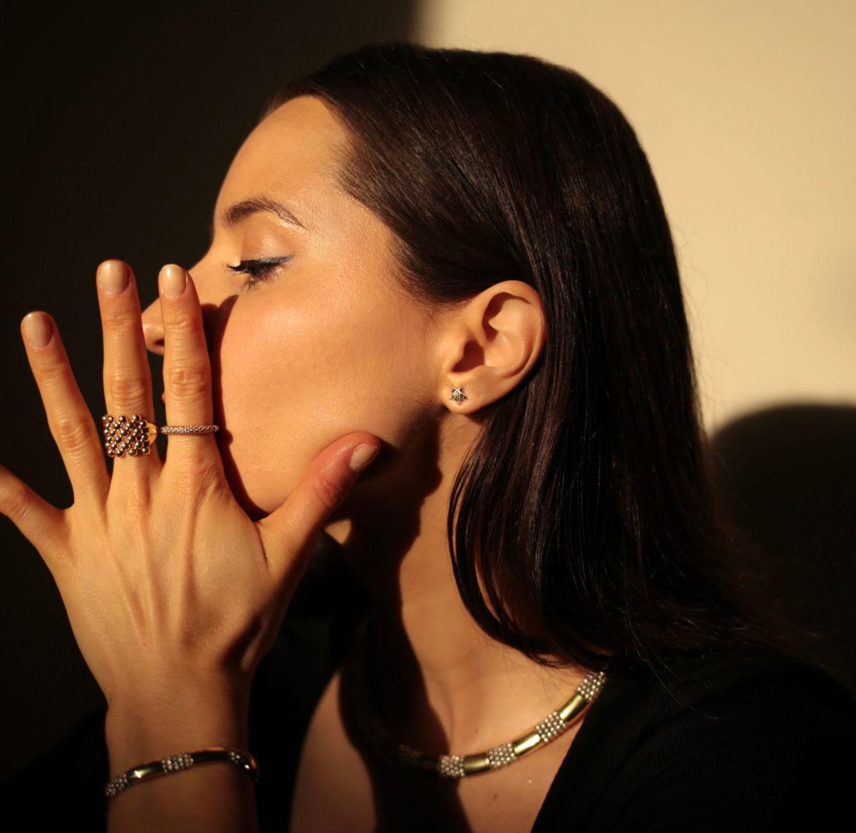 minimal jewelry 2021: LAGOS fine jewelry star stud earrings 18k gold and silver jewelry mix metal jewelry caviar beaded jewelry minimal earrings