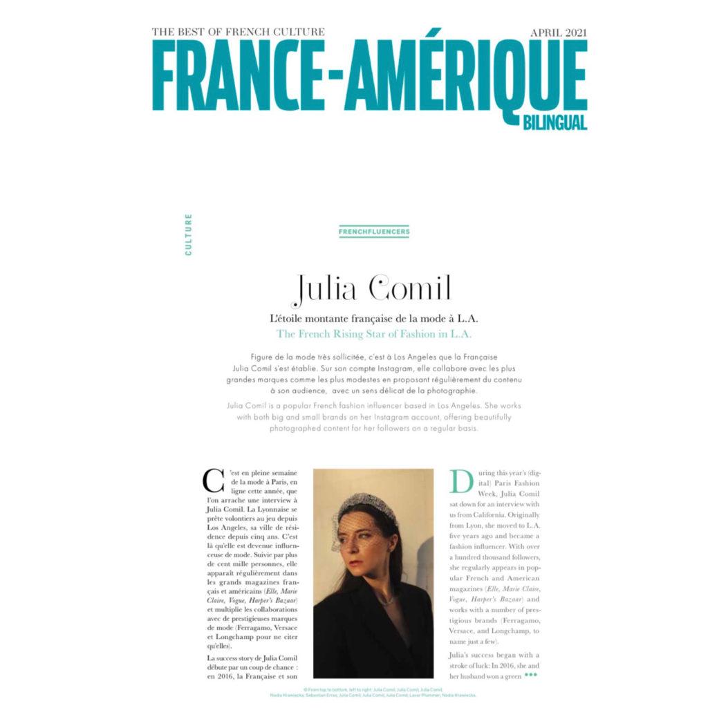 France Amerique Julia Comil French Fashion Influencer Press