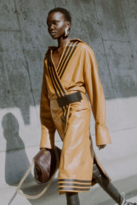 Best coats Fall Winter 2021 from the Runway Proenza Schouler camel leather coat Fall-21-RTW