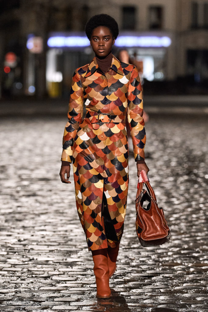 Best coats Fall Winter 2021 from the Runway - coats trends Chloe patchwork