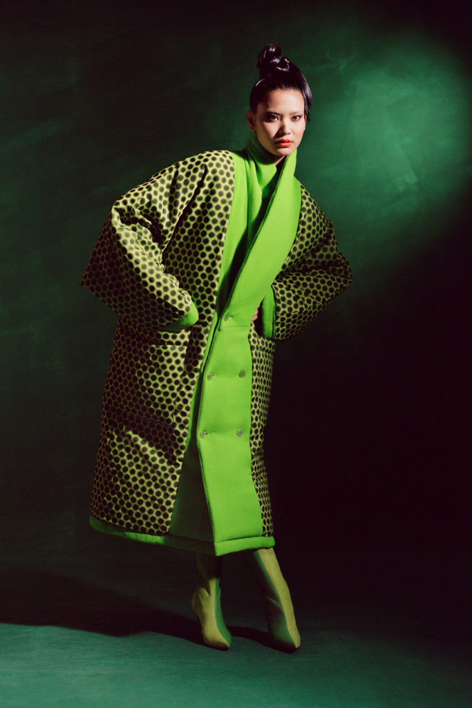 Christopher John Rogers Best Fall Winter 2021 Runway trends green shade bold color
