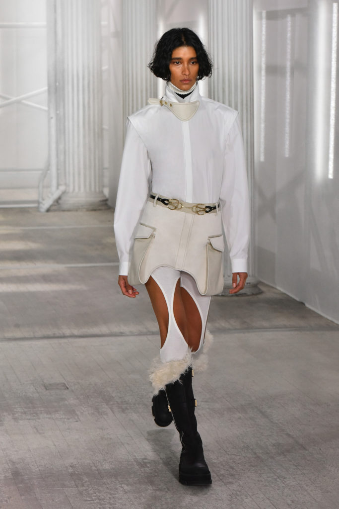 Dion Lee Fall Winter 2021 Runway trends leggings cut out