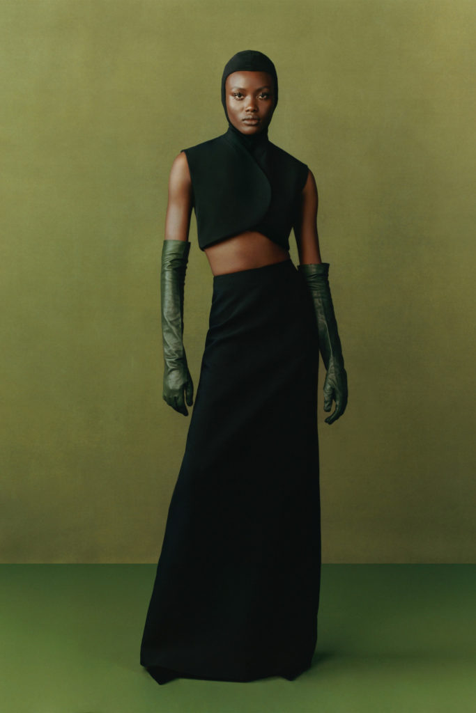 Fashion East Maximilian best Fall Winter 2021 trends fashion week report long wool skirt and cropped top