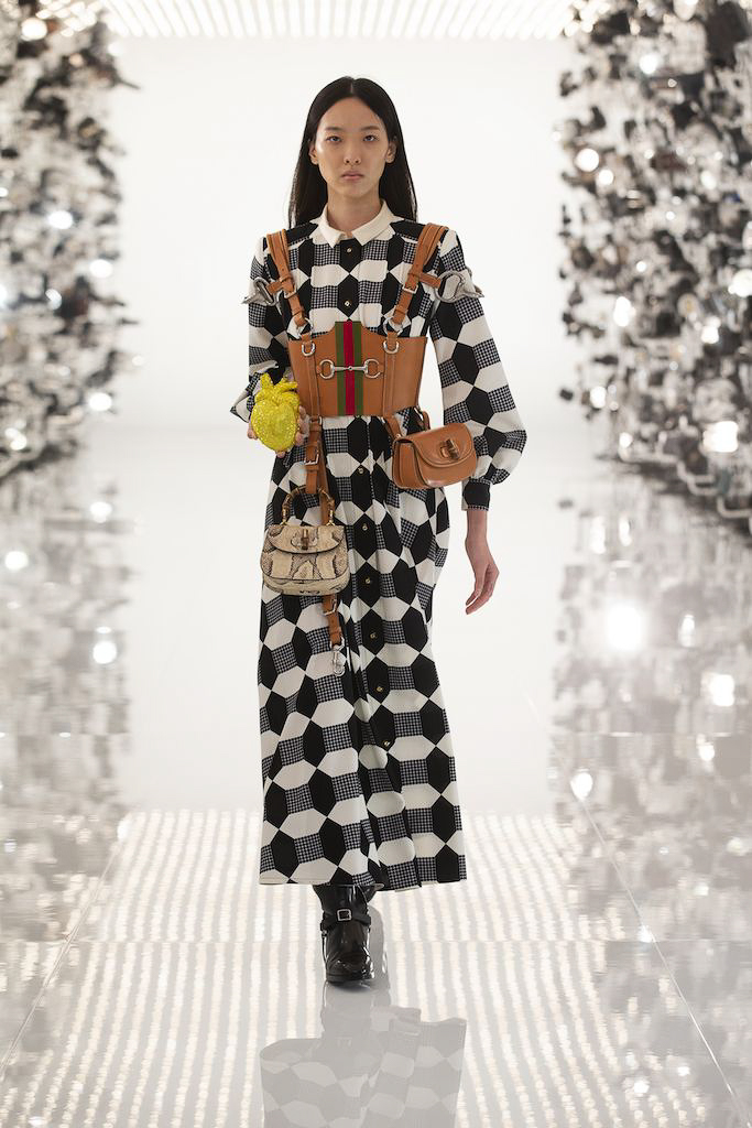 Gucci CR Fashion Book Fall Winter 2021 runway trends losange graphic alice in wonderland fall winter 2021 runway trends