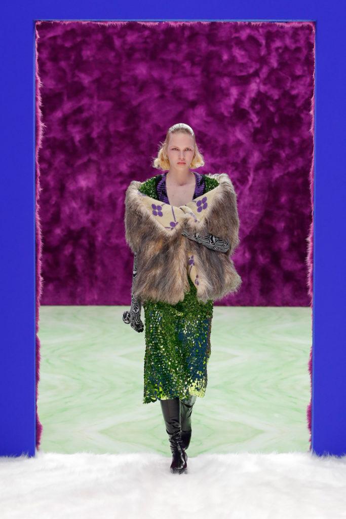 Prada RTW FW21 best fashion week trends '20s festive outfit