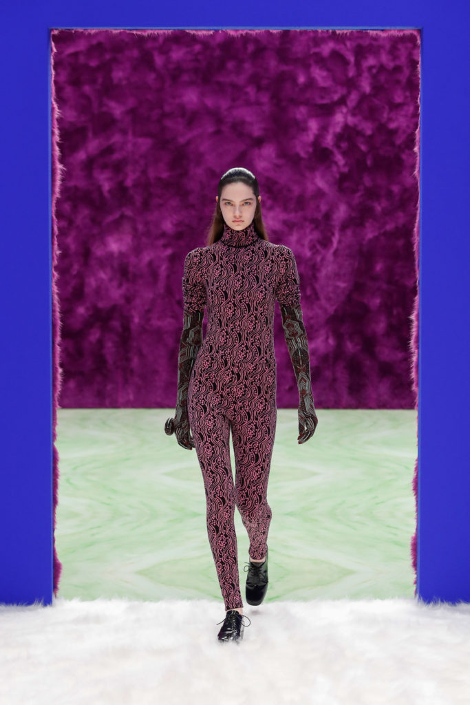 Prada RTW Fall Winter 2021 best runway trends catsuit unitard jumpsuit
