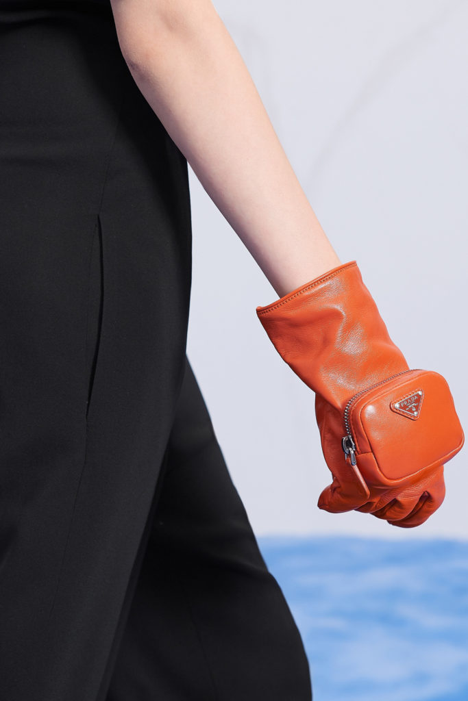 Prada gloves best details from the runway Fall Winter 2021 fashion week_